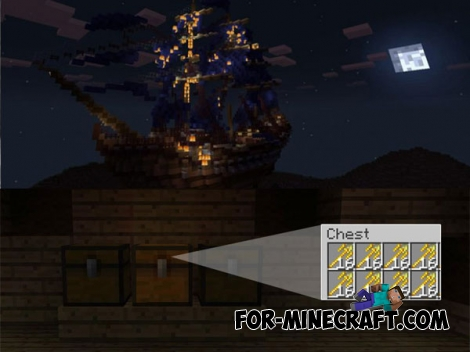 Ship Wars map + addon for MCPE 1.0/1.0.4.1