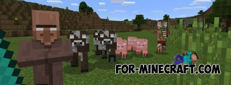 Herobrines addon for Minecraft PE 1.0.X