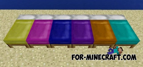 Dyeable Beds addon (Minecraft PE 1.0.6)