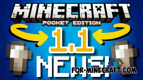 Minecraft Pocket Edition 1.1 - Official information