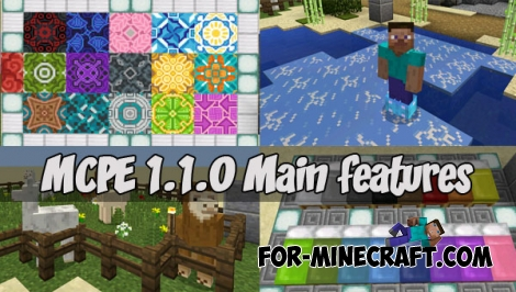MCPE 1.1.0 Main features map