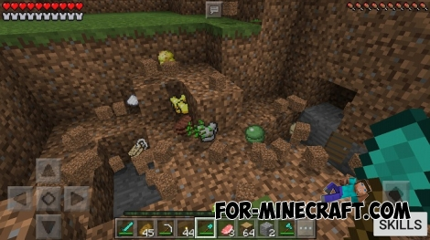 Better Skills mod (Minecraft PE 1.0)