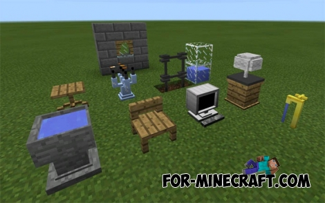 minecraft pe crafting ideas danxupe furniture mod minecraft pe 1 2 4964