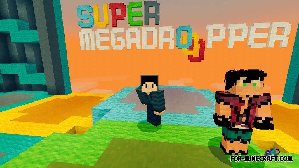 Super Mega Dropper map (MCPE 1.1) on