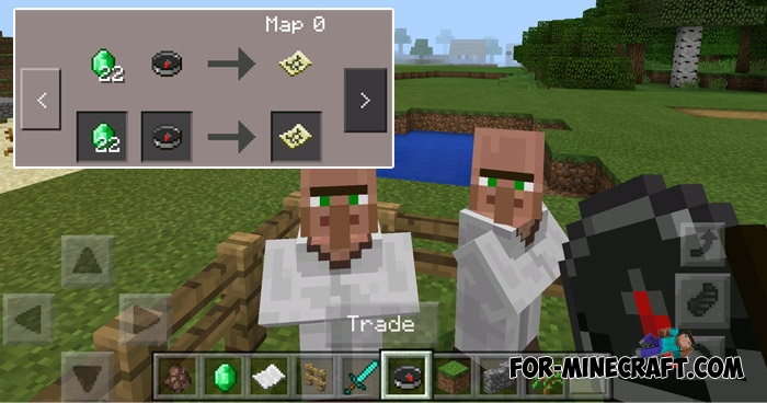 New Treasure Maps addon (Minecraft PE 1 1)