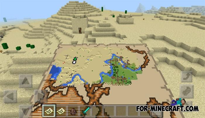 New Treasure Maps addon (Minecraft PE 1 1)