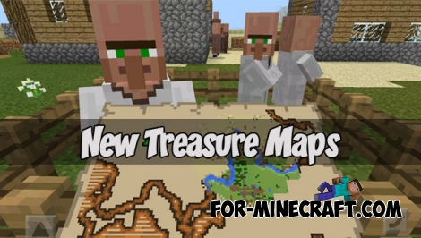 New Treasure Maps addon (Minecraft PE 1.1)