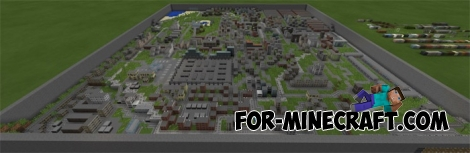 Mini Town map (Minecraft PE 1.1+)