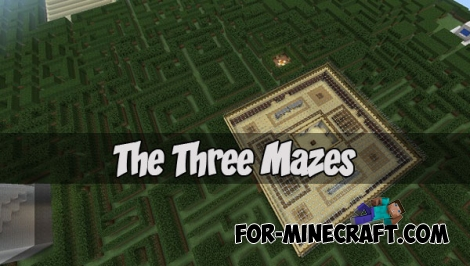 The Three Mazes map (MCPE 1.1+)