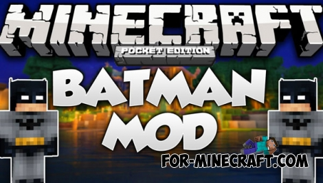 Batman mod for Minecraft Pocket Edition