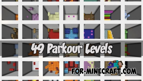 49 Parkour Levels (Minecraft PE)