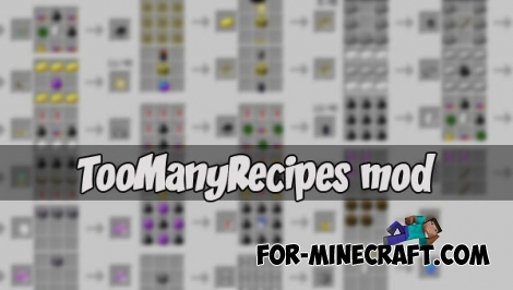TooManyRecipes (MCPE 1.1)