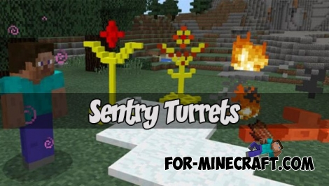Sentry Turrets for Minecraft PE 1.1.4