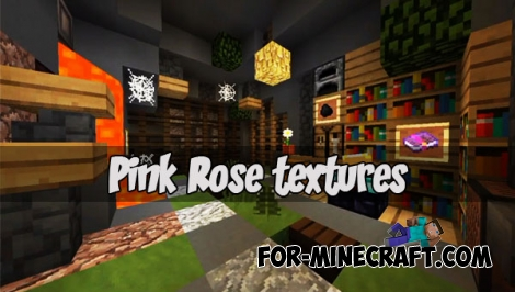 Pink Rose texture pack (Minecraft PE 1.1)