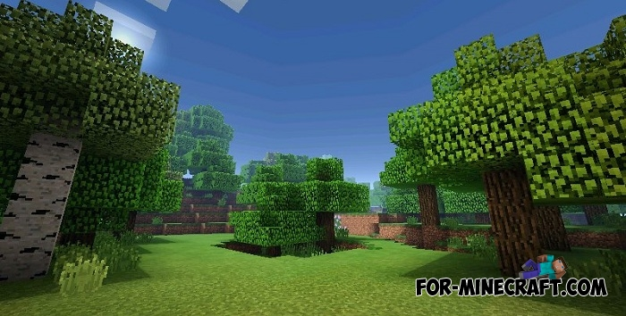 BLUE's shaders (Ultra realistic) (MCPE 1 2)