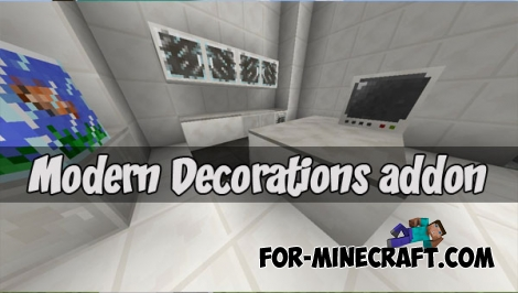 Modern Decorations addon (Minecraft PE 1.2)