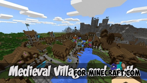 Medieval Village and Castle map (Minecraft PE 1.2)