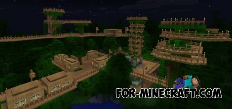 The Forest Settlement map for Minecraft PE 1.X