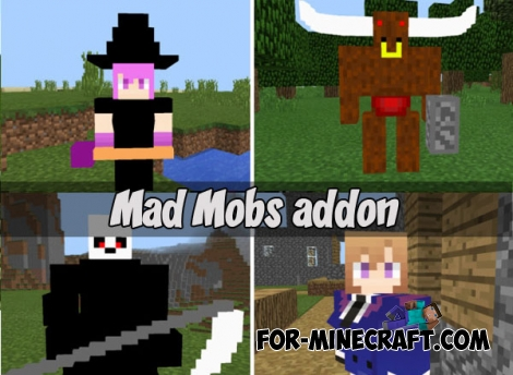 Mad Mobs addon for MCPE 1.2