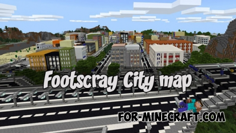 Footscray City map v1.5 for Minecraft PE 1.X
