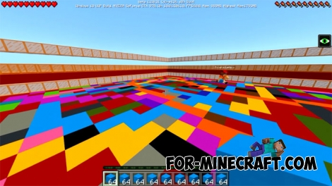 Dancefloor Challenge map (MCPE 1.2+)