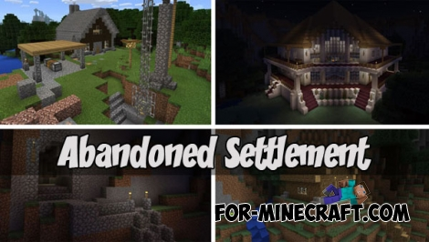 Abandoned Settlement map for MCPE 1.X