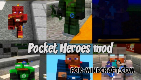 Pocket Heroes mod for Minecraft PE 1.2