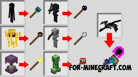 Mobs Staff mod for Minecraft PE 1.2