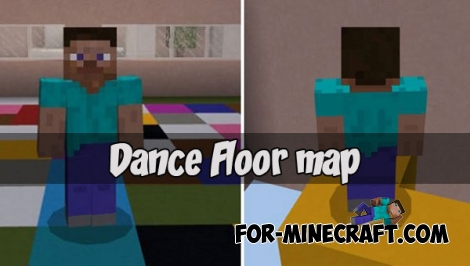 Dance Floor map for Minecraft PE 1.2