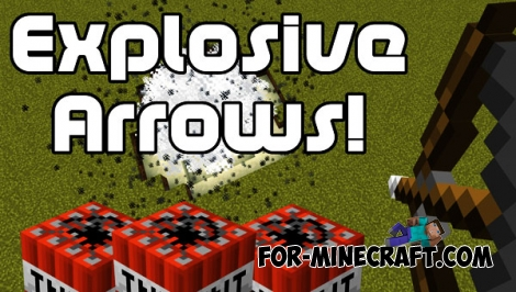 Explosive Arrows addon for Minecraft PE 1.X