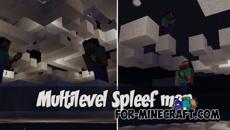 Multilevel Spleef map for MCPE - Bedrock