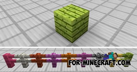 Colored Blocks and Fences addon (MCPE)