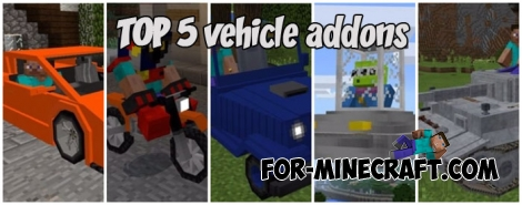 TOP 5 vehicle addons for Minecraft PE