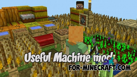 Useful Machine mod v1.3.6 for MCPE (IC)
