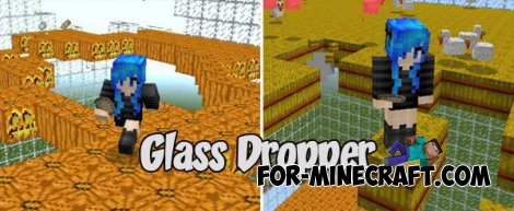 Glass Dropper map for Minecraft PE 1.2