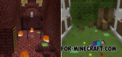 Slime Parkour map for MCPE 1.2.X