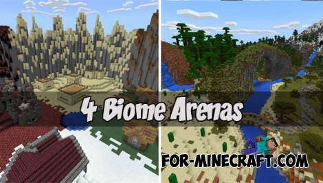 4 Biome Arenas map for MCPE