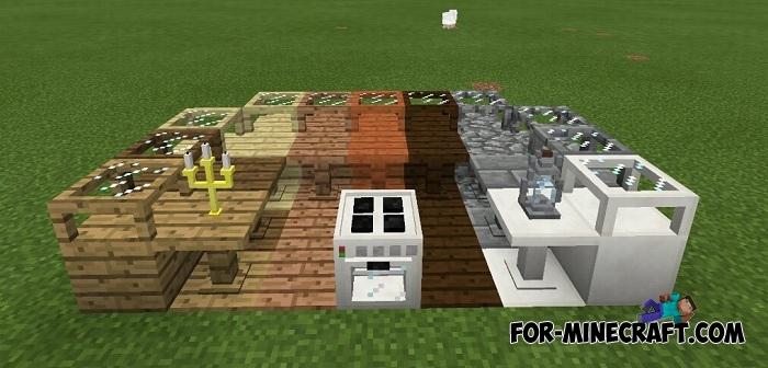 SlePE Furniture mod v1 3 for Minecraft PE (Bedrock)