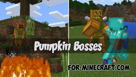 Pumpkin Bosses for MCPE 1.2