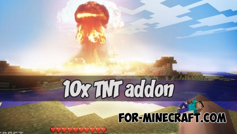 10x TNT addon for MCPE