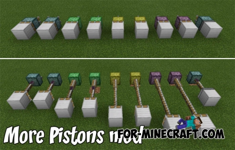 More Pistons mod for Minecraft PE