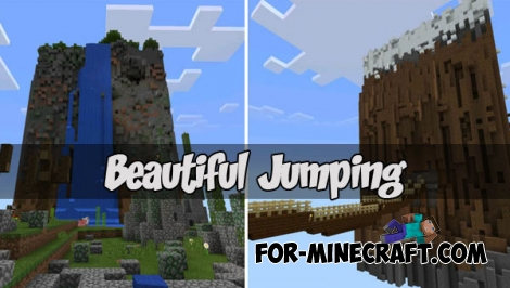Beautiful Jumping map for Minecraft PE