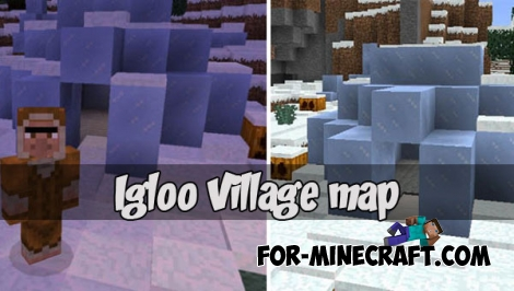 Igloo Village map for Minecraft PE 1.2