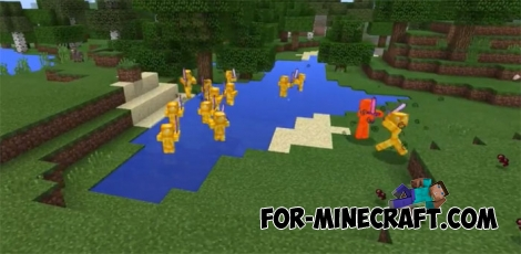 Yellow Steve addon for MCPE 1.2.6