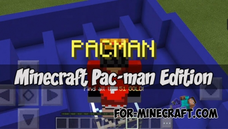 Minecraft Pac-man Edition map for MCPE 1.2