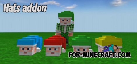 Hats addon for Minecraft PE 1.2
