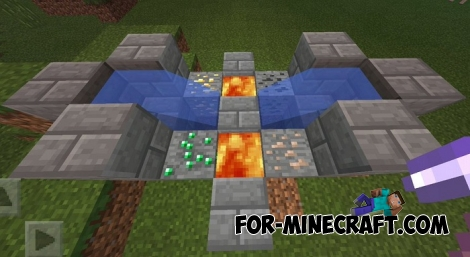 Auto Ore Generators mod for MCPE 1.2