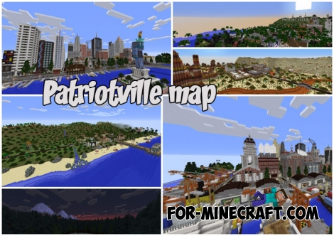 Patriotville map for MC Bedrock 1.2