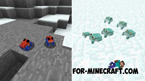 Frogs pack for Minecraft PE Bedrock 1.2