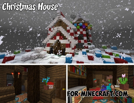 Christmas House for MCPE Bedrock 1.2